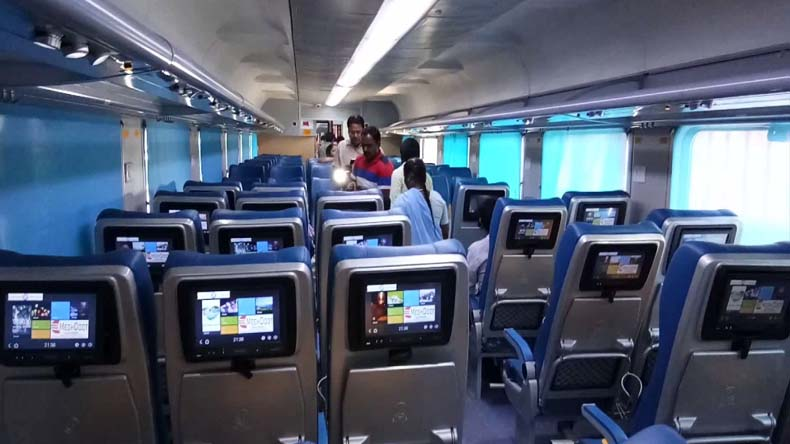 Indian Railways Private train Inside Photo