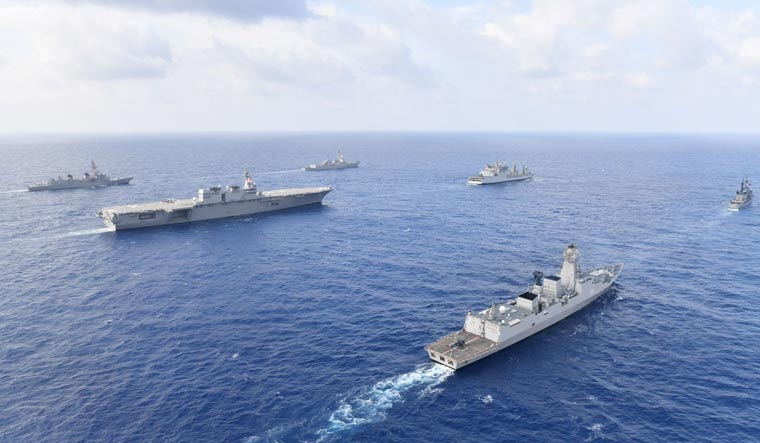 US navy ships in indian ocean