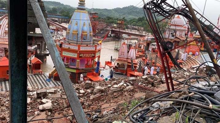 Haridwar lightning strikes Har Ki Pauri