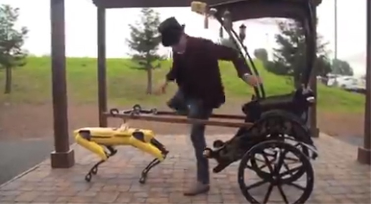 Robot driven Rickshaw Viral Video