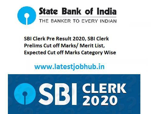 SBI Clerk Prelims Result 2020 Out: Result Link and Scorecard....SBI BANK