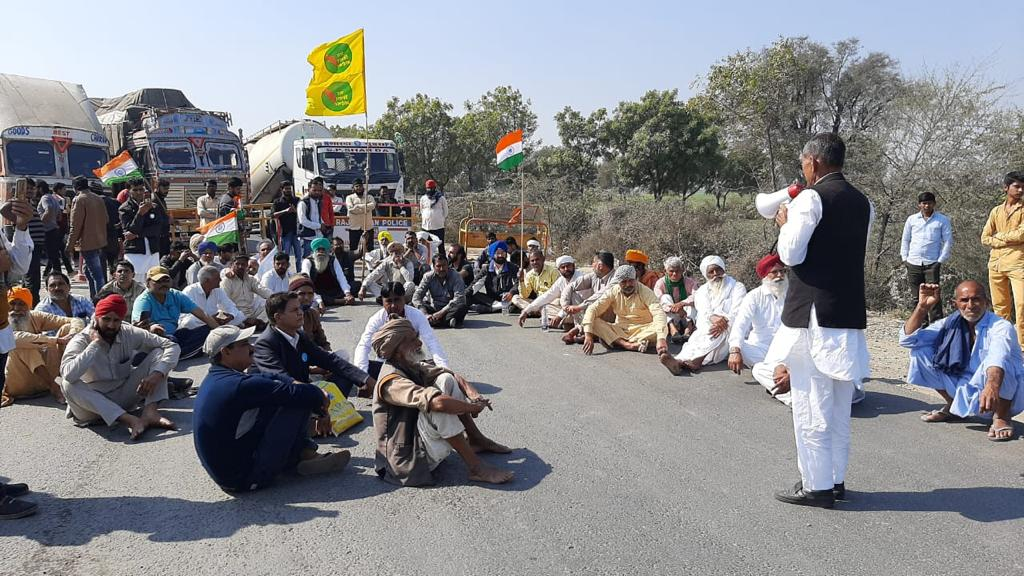 many highway jams from-rewari to ambala in haryana