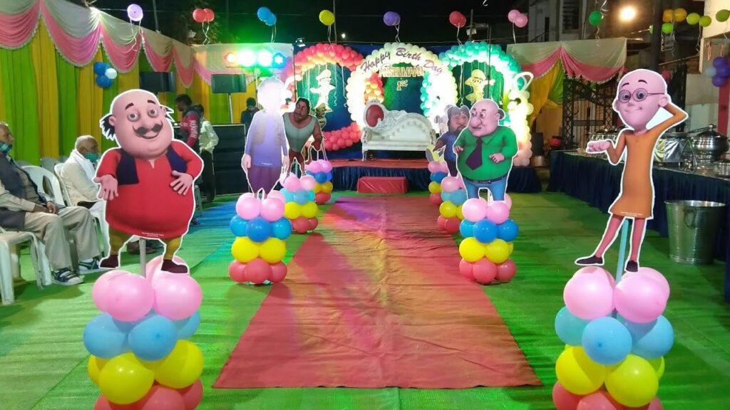 motu patlu theme decoration In Jaipur Call Now For Booking