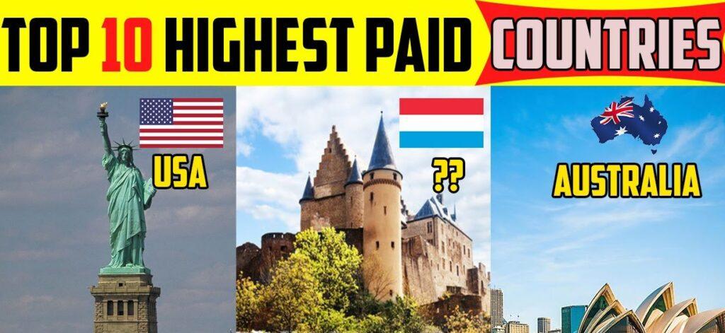 Top 10 countries highest salaries